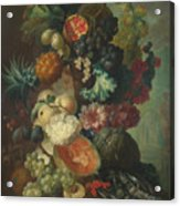 Fruit Flowers And A Fish Acrylic Print