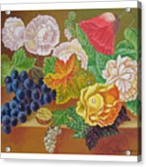 Fruits And Flowers  II. 2006 Acrylic Print