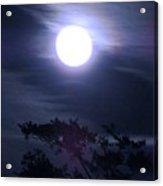 Full Moon Falling Acrylic Print