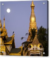 Full Moon In Burma Acrylic Print