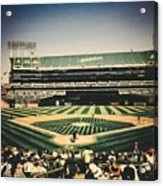 Game Day In Oakland Acrylic Print