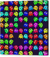 Game Monsters Seamless Generated Pattern Acrylic Print