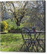 Garden In Spring Acrylic Print
