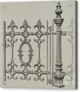 Gate And Gatepost Acrylic Print
