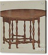 Gate-legged Table Acrylic Print