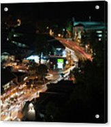 Gatlinburg, Tennessee At Night From The Space Needle Acrylic Print
