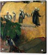 Gauguin: Breton Women Acrylic Print