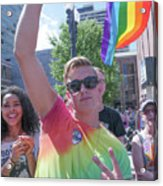Gay Pride Acrylic Print