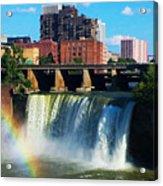 Genesee River Rainbow Acrylic Print