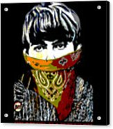 George Harrison wearing a face mask Acrylic Print
