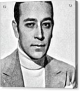 George Raft, Vintage Actor By Js Acrylic Print
