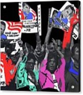 George Wallace For President Supporters Democratic Nat'l Convention Miami Beach Florida 1972-2013 Acrylic Print