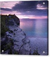 Georgian Bay Cliffs At Sunset Acrylic Print