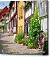 German Old Village Quedlinburg Acrylic Print