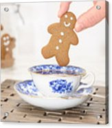 Gingerbread In Teacup Acrylic Print