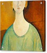 Girl In A Green Blouse Acrylic Print