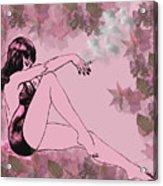 Girl In Bathing Suit Acrylic Print
