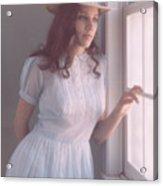 Girl In Hat Acrylic Print