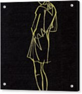 Girl On Black Acrylic Print