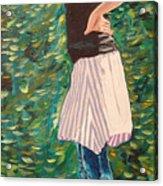 Girl On The Bridge Acrylic Print