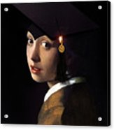 Girl With The Grad Cap Acrylic Print