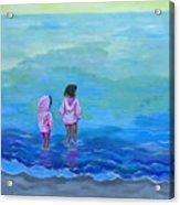 Girls In Pink Acrylic Print