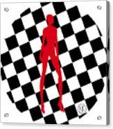 Girls. Red. II Acrylic Print