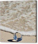 Glass Diamond On The Beach Acrylic Print