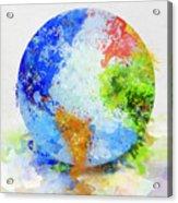 Globe Painting Acrylic Print