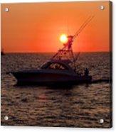 Going Fishing - Silhouette Acrylic Print