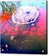 Gold Fish Pond Acrylic Print