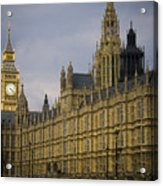 Golden Big Ben Acrylic Print
