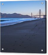 Golden Gate Bridge And Pacific Ocean Early Morning Acrylic Print