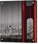 Golden Gate Bridge Panoramic Acrylic Print