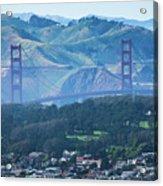 Golden Gate Bridge View From Twin Peaks San Francisco Acrylic Print