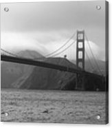 Golden Gate Acrylic Print by Ofelia  Arreola