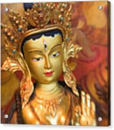 Golden Sculpture Acrylic Print