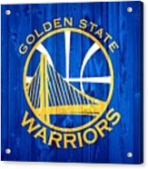 Golden State Warriors Door Acrylic Print