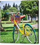 Google Bike Parked Near Googleplex Facility Park Acrylic Print