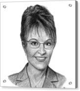 Governor Sarah Palin Acrylic Print