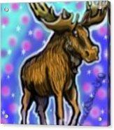 Graffiti Moose Acrylic Print