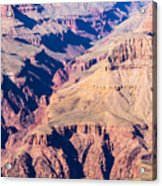 Grand Canyon Sunny Day With Blue Sky Acrylic Print