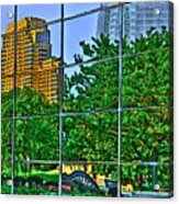 Grand Rapids Mi On Glass-17 Acrylic Print