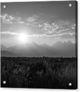 Grand Teton Hazy Sunset  Acrylic Print