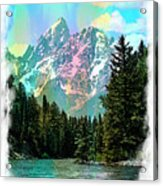 Grand Tetons From The Snake River Acrylic Print