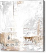 Gray Brown Abstract 12m3 Acrylic Print