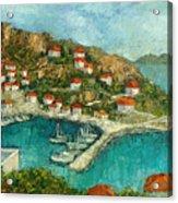 Greek Island Acrylic Print