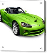 Green 2008 Dodge Viper Srt10 Roadster Acrylic Print