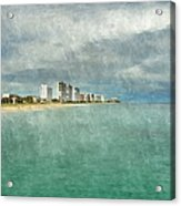 Green And Bluie Acrylic Print