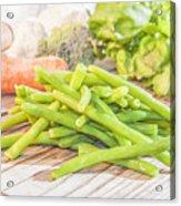 Green Bean Acrylic Print